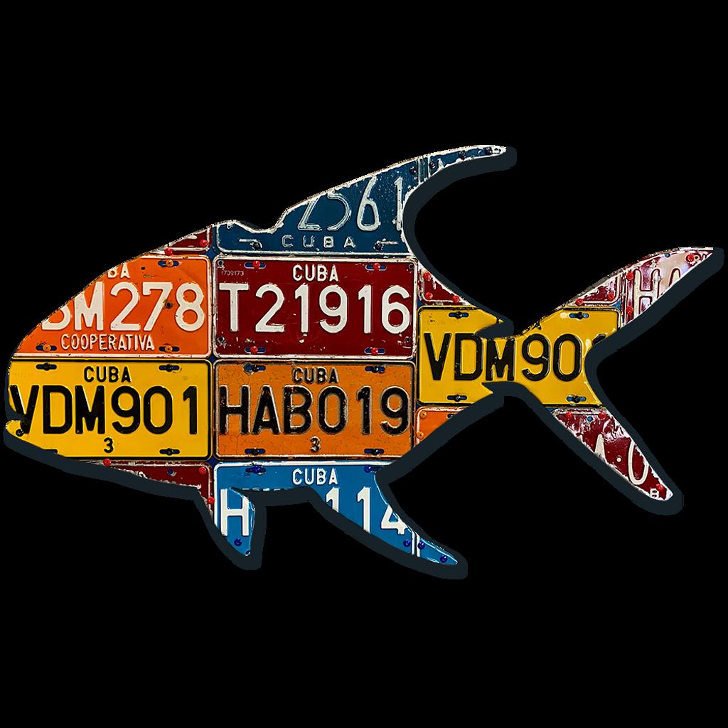 Cuba Permit License Plate Art