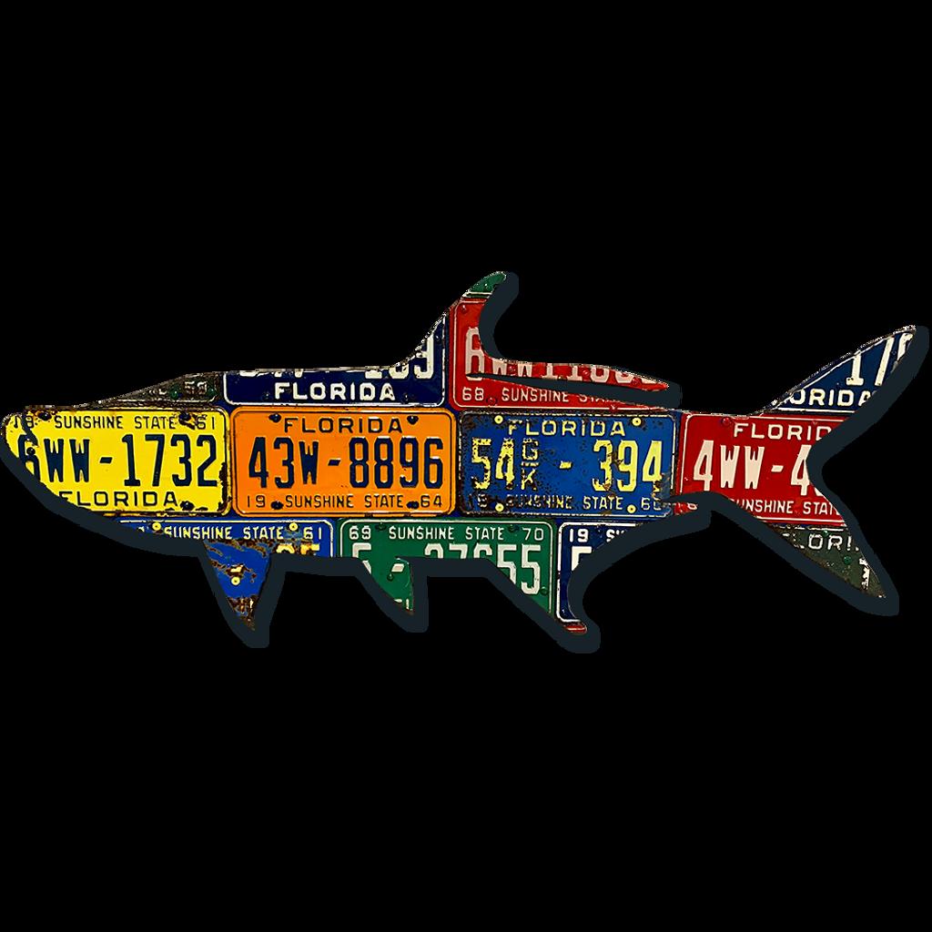 Florida Antique Tarpon License Plate Art