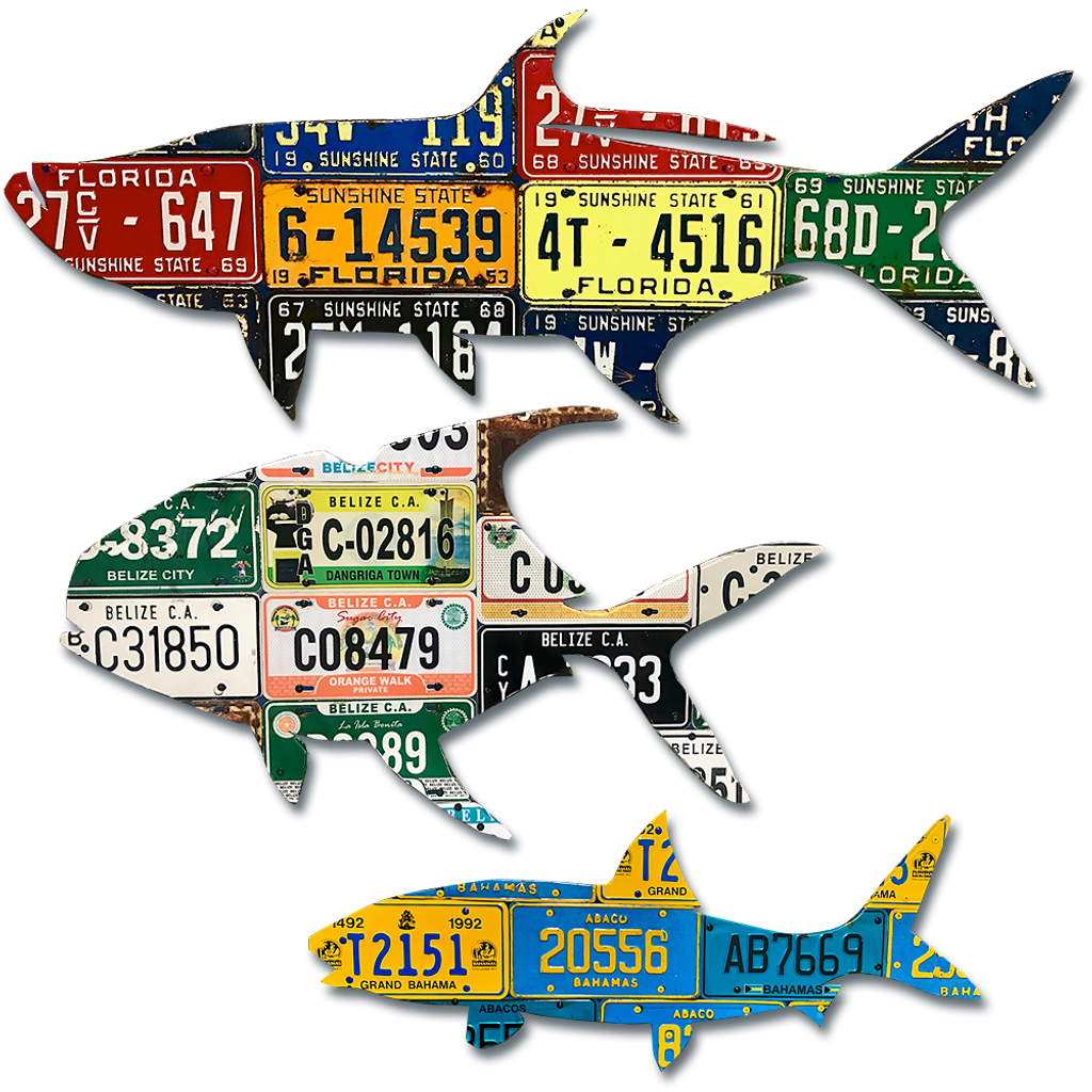 Fishing Guide Relief Fund Grand Slam License Plate Art