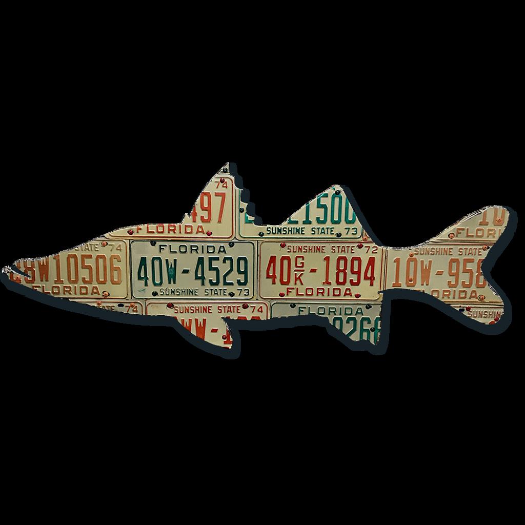Florida Snook License Plate Art