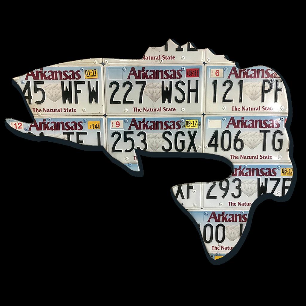 Arkansas Largemouth Bass License Plate Art