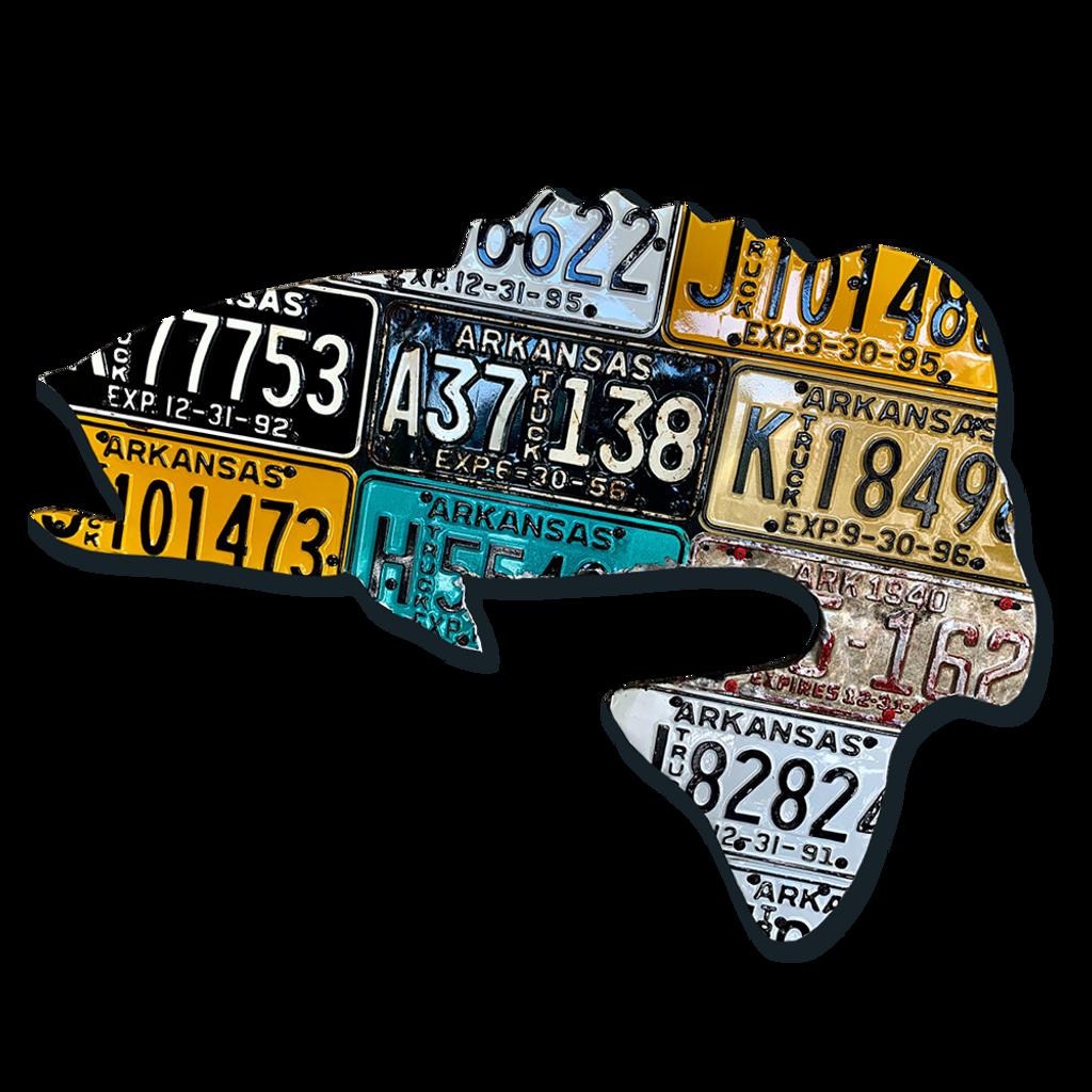 Arkansas Antique Largemouth Bass License Plate Art