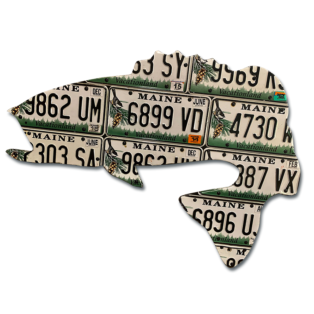Maine Largemouth Bass License Plate Art