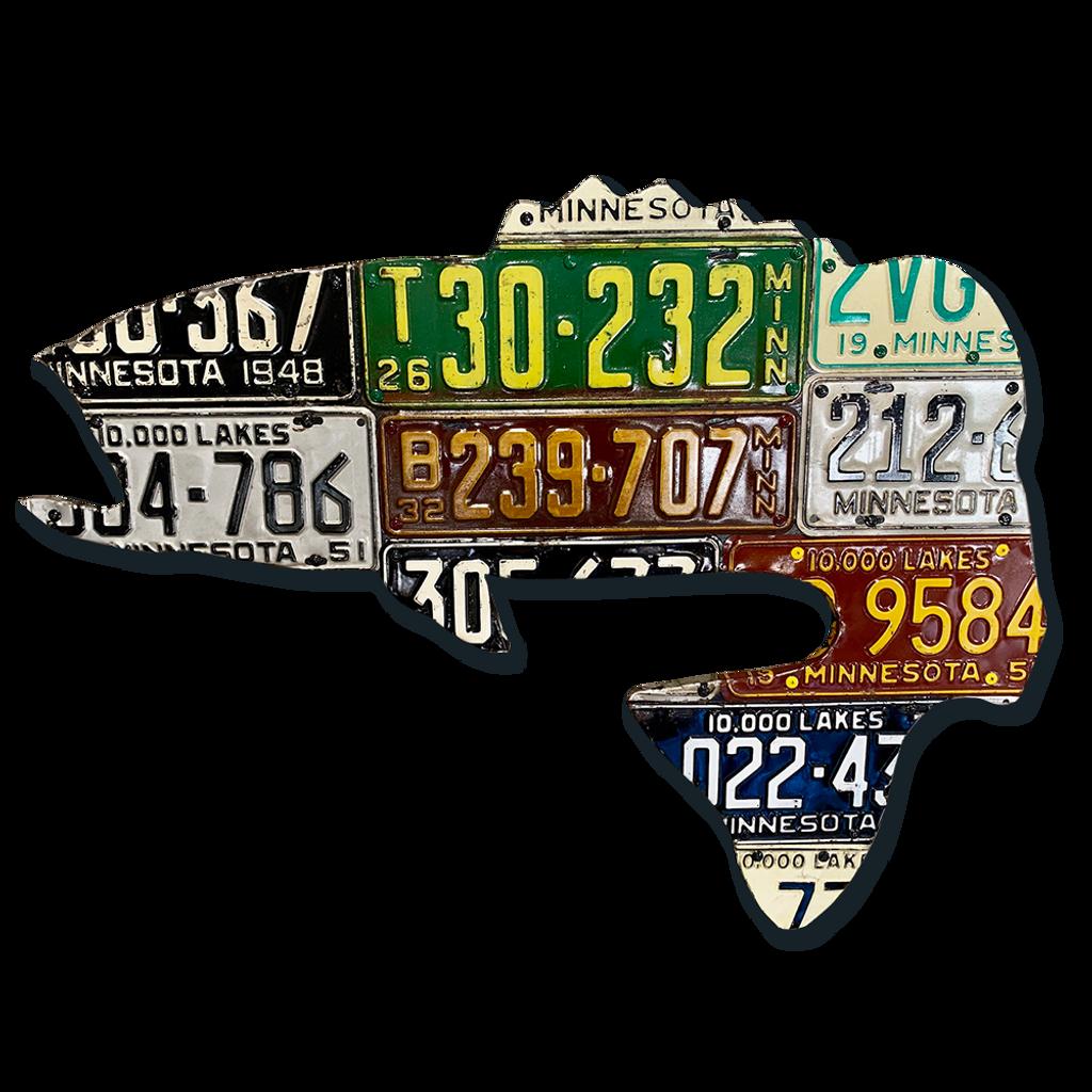 Minnesota Largemouth Bass License Plate Art