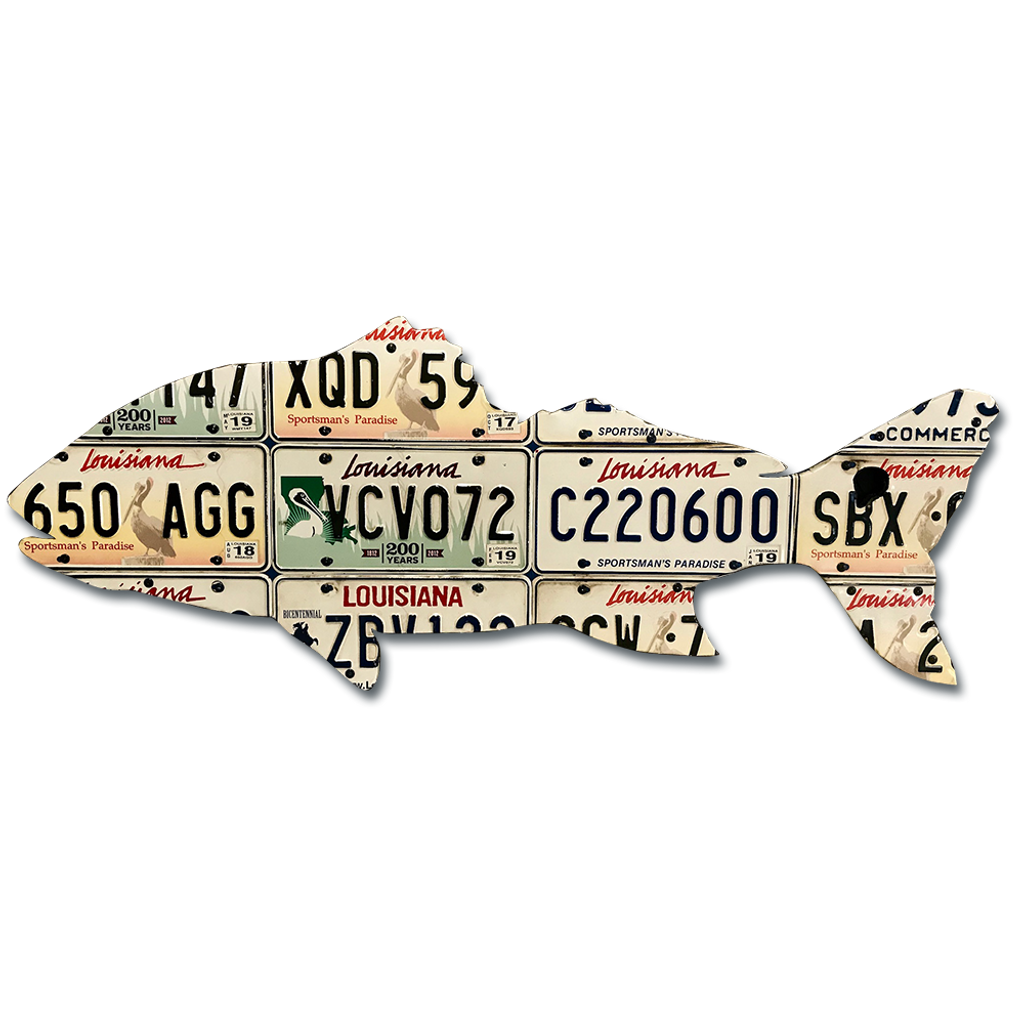 Louisiana Black Drum License Plate Art