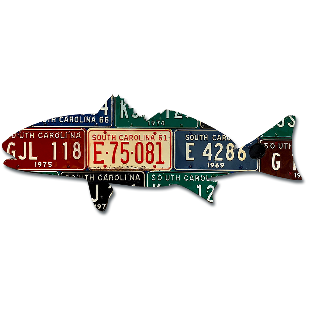 South Carolina Redfish License Plate Art