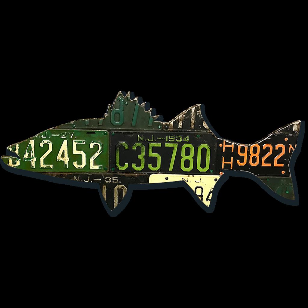 New Jersey Striped Bass License Plate Art