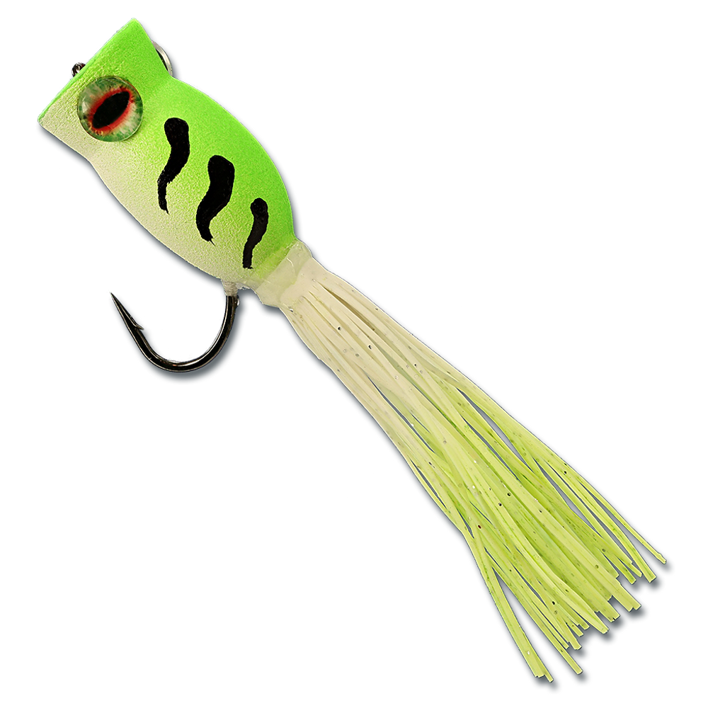 La'Au Frog - Chartreuse & White