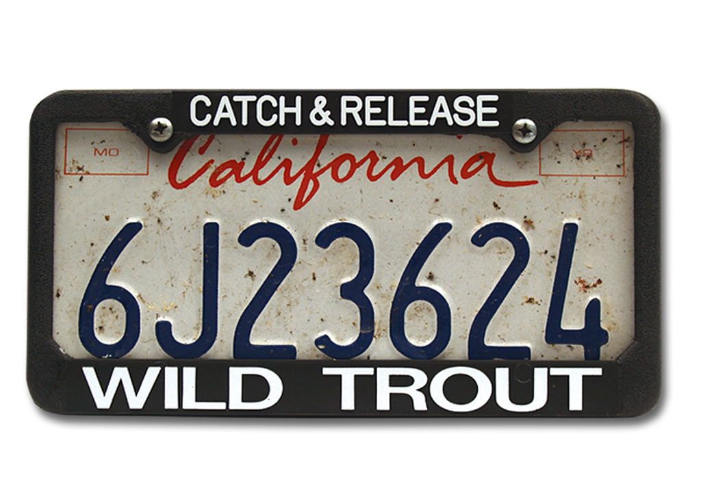 The Fly Shop's License Plate Holders - Catch & Release/Wild Trout