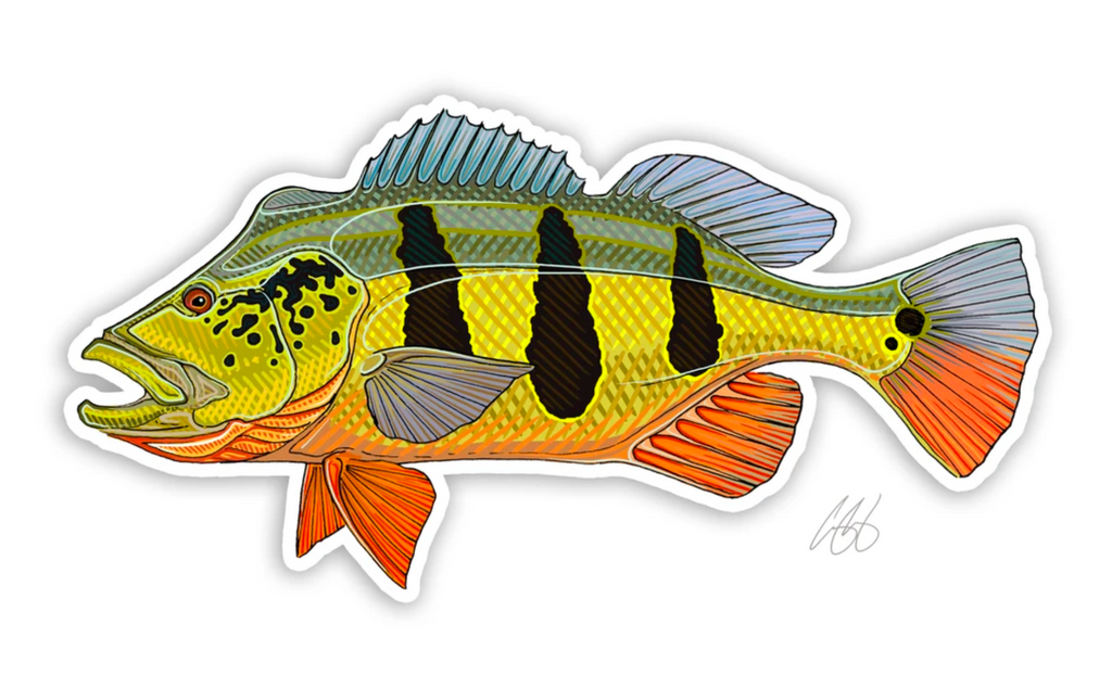 Casey Underwood Fish Decal - Peacock Bass