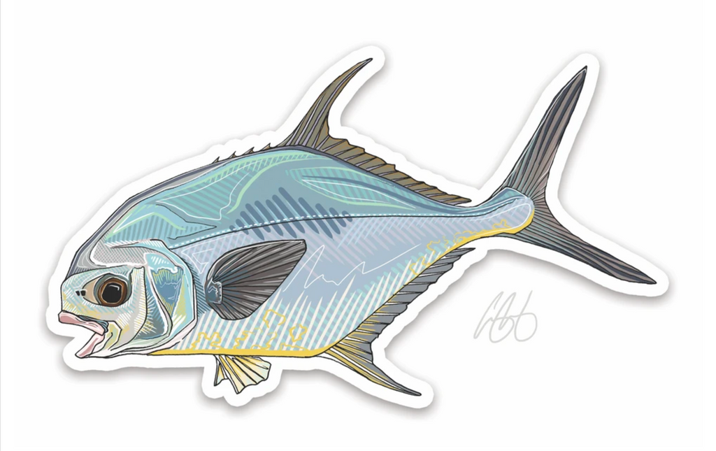 Casey Underwood Fish Decal - Permit