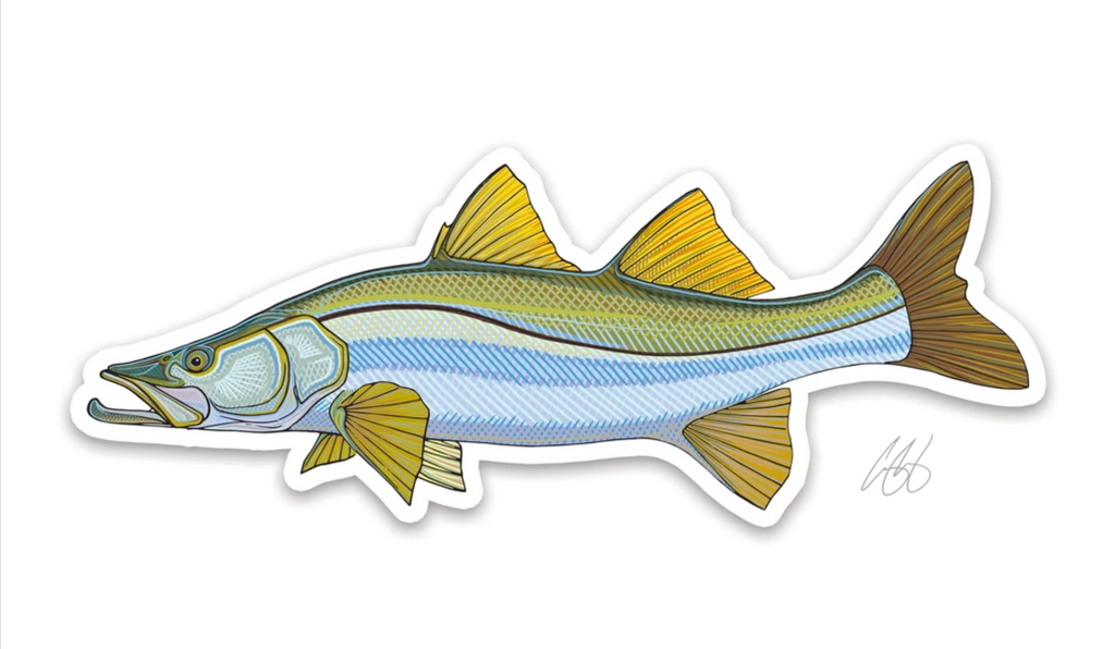 Casey Underwood Fish Decal - Snook