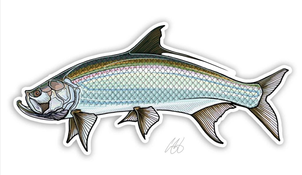 Casey Underwood Fish Decal - Tarpon