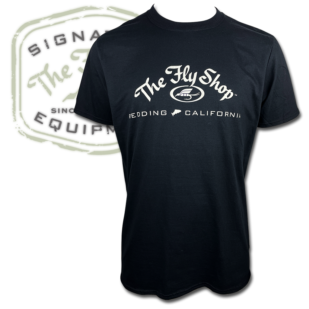 """The Fly Shop's """"Got Rubbers?"""" T-Shirt - Front"""