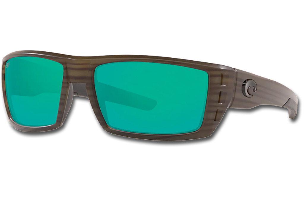 Rafael Polarized 580 Sunglasses - Matte Olive Teak/Green Mirror Polycarbonate