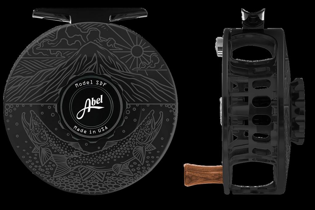 Abel SDF Series Reels - Underwood Graphic - Black