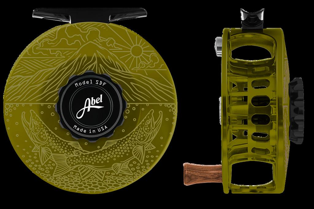 Abel SDF Series Reels - Underwood Graphic - Olive