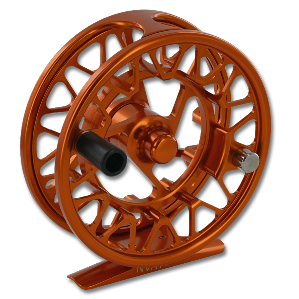 Galvan Brookie Fly Reel - Burnt Orange (Front)