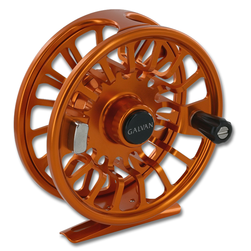Galvan Torque Fly Reels - Burnt Orange (Front)