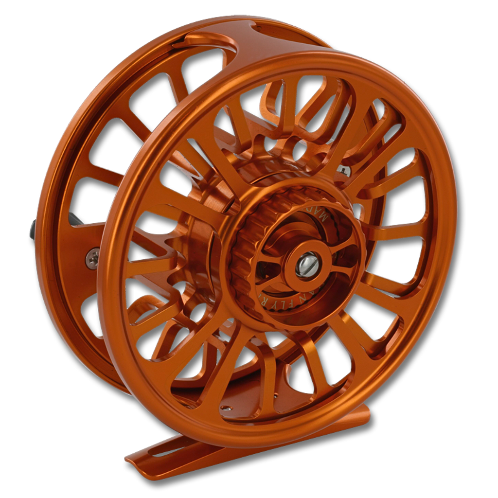 Galvan Torque Fly Reels - Burnt Orange (Back)