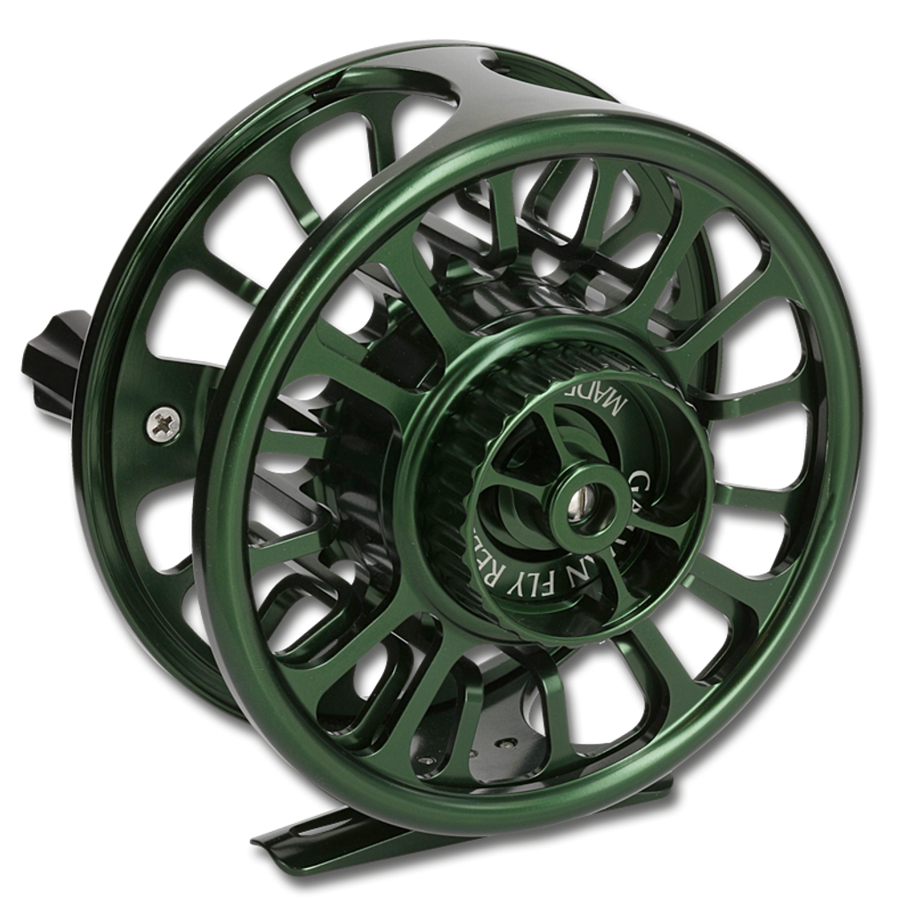 Galvan Torque Fly Reels - Green (Back)