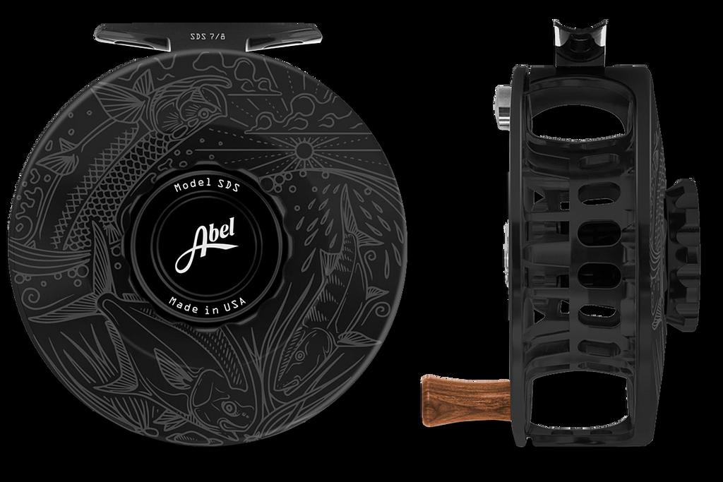 Abel SDS Series Reels - Underwood Graphic - Black
