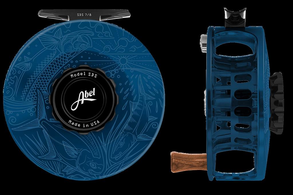 Abel SDS Series Reels - Underwood Graphic - Deep Blue