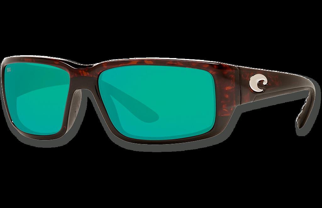 Fantail Polarized Glass 580 Sunglasses - Tortoise/Green Lightwave Glass