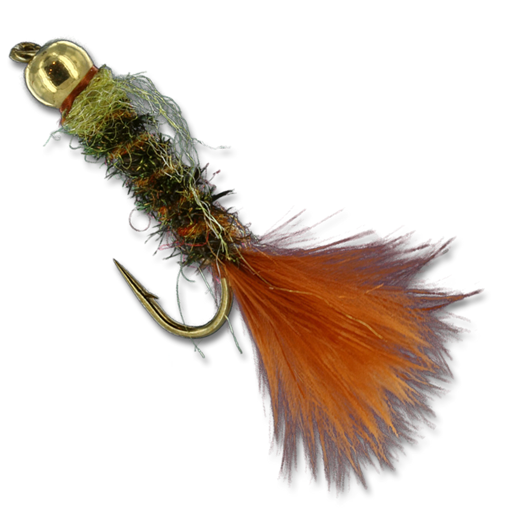 GB Twist Nymph - Peacock/Orange