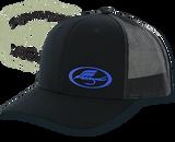 TFS Oval Trucker Cap - Black with Blue Logo