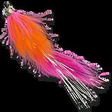 Hareball Leeches - Orange/Pink
