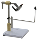 The Peak Rotary Vise - shown with Brass Riser and Tool Post Caddy