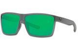 Rincon Polarized 580 Sunglasses - Matte Smoke Crystal/Green Lightwave Glass