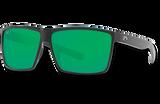 Rincon Polarized 580 Sunglasses - Shiny Black/Green Polycarbonate