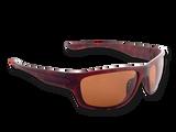 "TFS Polarized ""Striper"" Sunglasses - Brown Tortoise/Polar Brown"