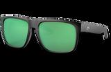 Spearo XL Polarized Glass 580 Sunglasses - Matte Black/Green Lightwave Glass