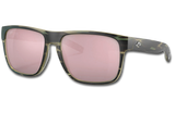 Spearo XL Polarized Glass 580 Sunglasses - Matte Reef/Copper Silver Lightwave Glass