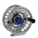 Galvan Grip Fly Reel - Front (clear with blue)