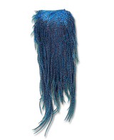 Premium Dyed Grizzly Streamer Saddle - Kingfisher Blue