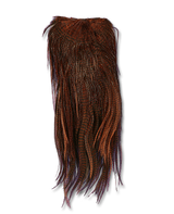 Premium Dyed Grizzly Streamer Saddle - Brown