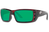 Permit Polarized Glass 580 Sunglasses - Tortoise/Green Lightwave Glass