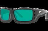 Permit Polarized Glass 580 Sunglasses - Matte Black/Green Lightwave Glass