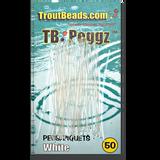 TB (Trout Beads) Peggz - White