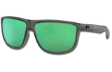 Rincondo Polarized Glass 580 Sunglasses - Matte Smoke Crystal/Green Lightwave Glass
