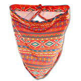 Damsel Fly Fishing Snood - Orange Aztec
