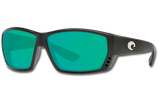 Tuna Alley Polarized Glass 580 Sunglasses - Matte Black/Green Lightwave Glass