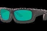 Jose Polarized Glass 580 Sunglasses - Blackout/Green Lightwave Glass