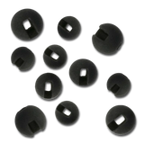 Firehole Slotted Tungsten Beads - Black