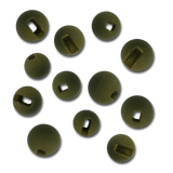 Firehole Slotted Tungsten Beads - Dark Olive