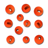 Firehole Slotted Tungsten Beads - Fire Orange